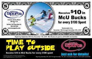McU Bucks @ McU Sports Downtown Store & Ski Shop